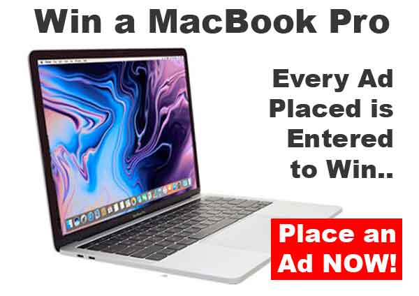 Win a free macbook pro